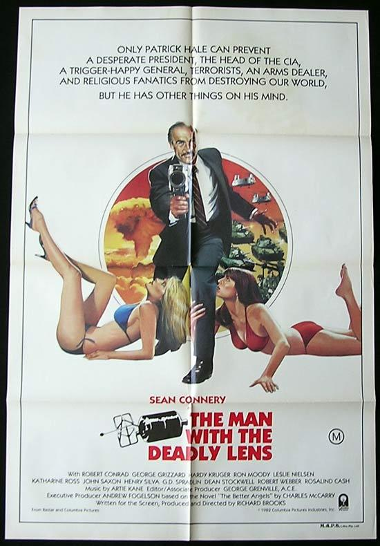 THE MAN WITH THE DEADLY LENS Original One sheet Movie poster Sean Connery