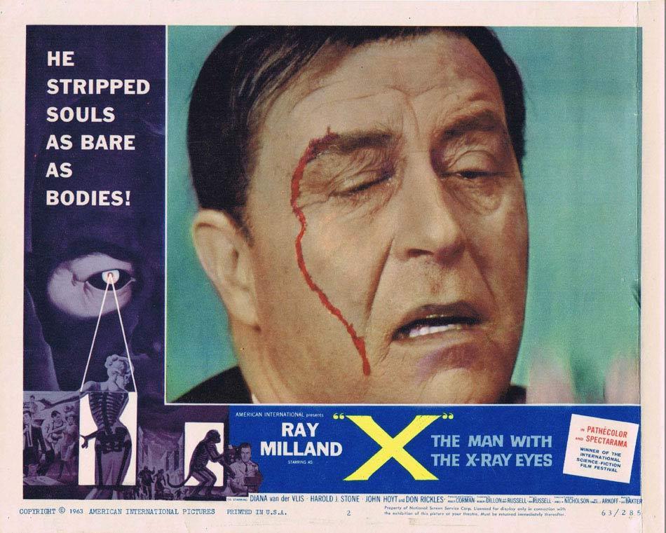 THE MAN WITH X-RAY EYES Lobby Card 2 Ray Milland