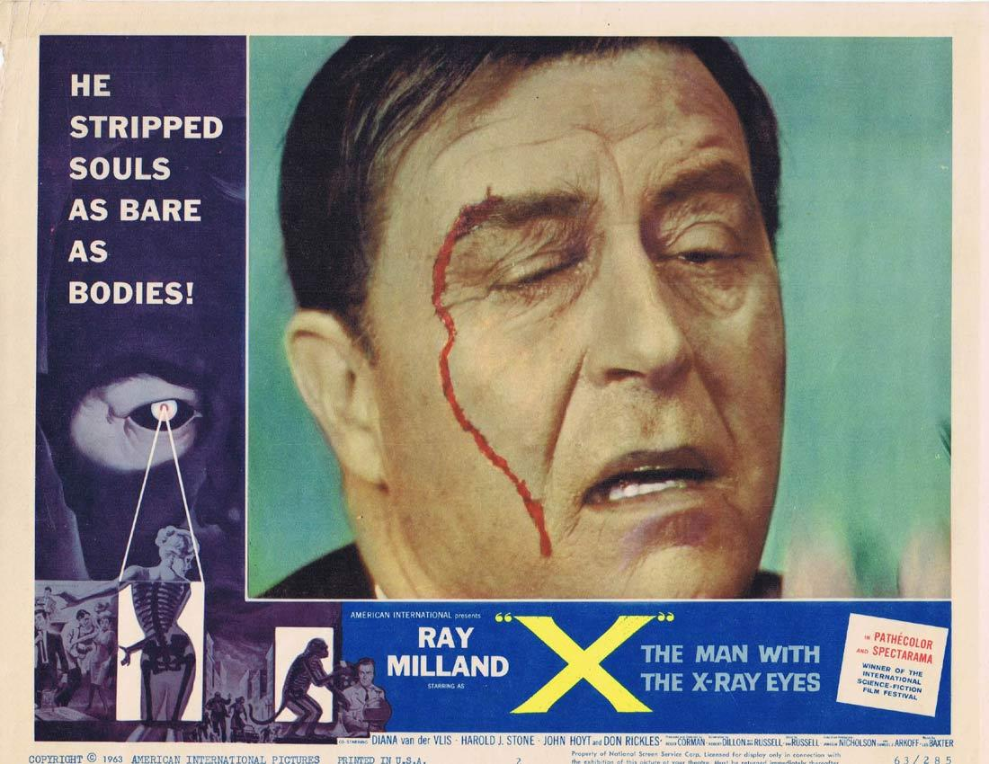 THE MAN WITH X RAY EYES Lobby Card 2 Ray Milland Roger Corman