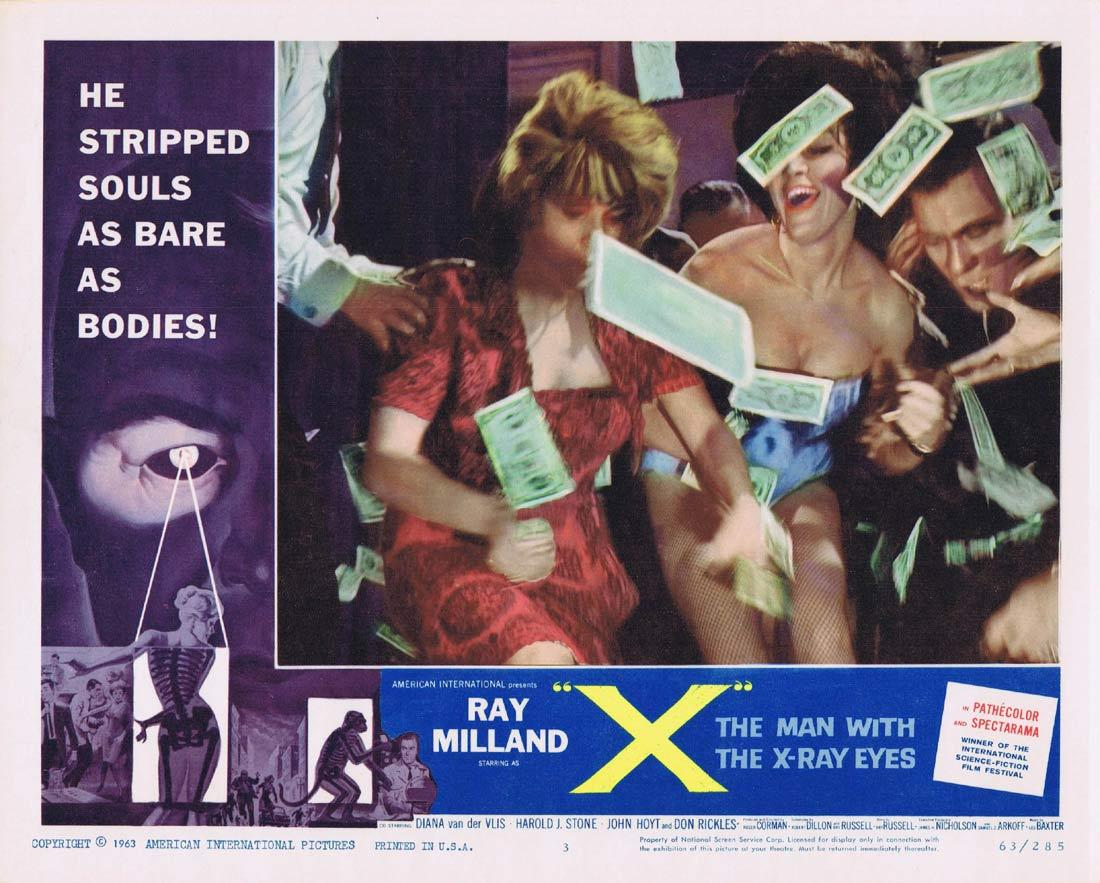 THE MAN WITH X RAY EYES Lobby Card 3 Ray Milland Roger Corman