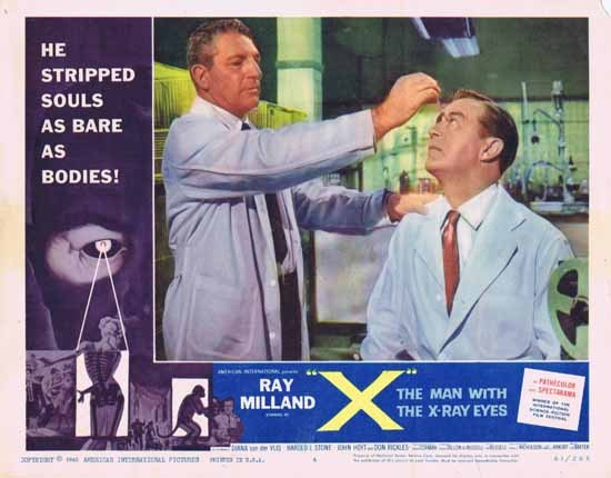 MAN WITH X RAY EYES 1963 Ray Milland ORIGINAL US Lobby card 4