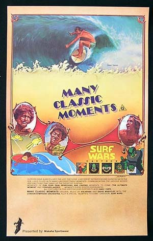 MANY CLASSIC MOMENTS Daybill Movie Poster SURFING