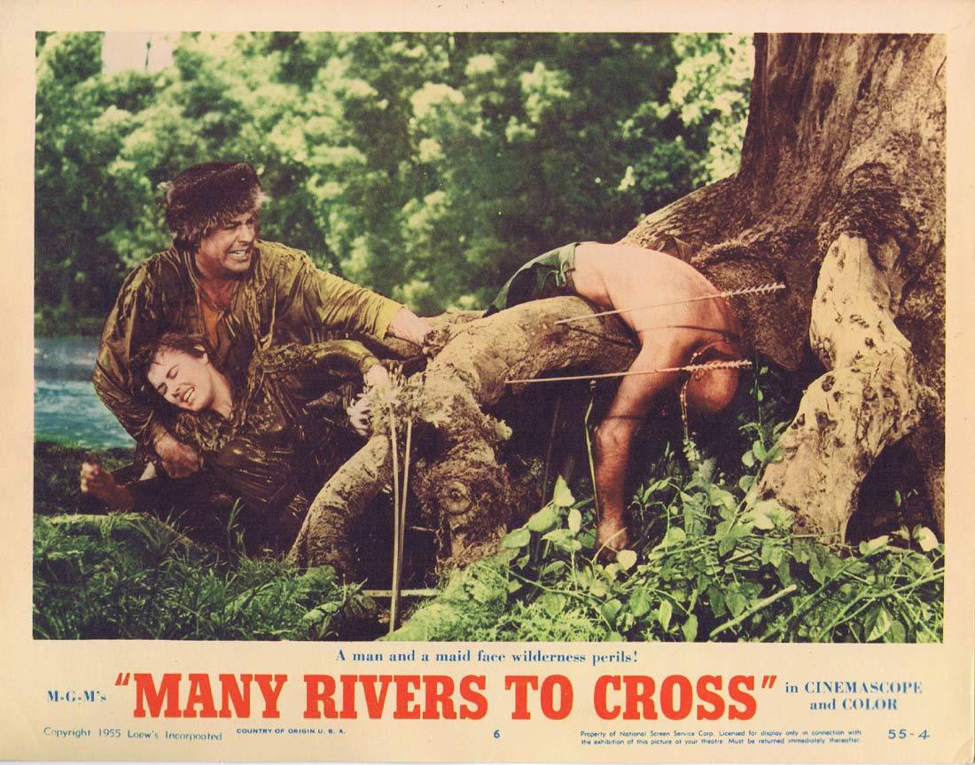 MANY RIVERS TO CROSS Original Lobby Card 6 Robert Taylor Eleanor Parker