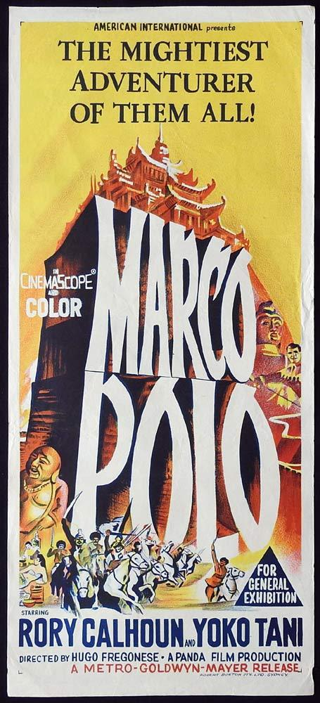 MARCO POLO Original Daybill Movie Poster Rory Calhoun 1962