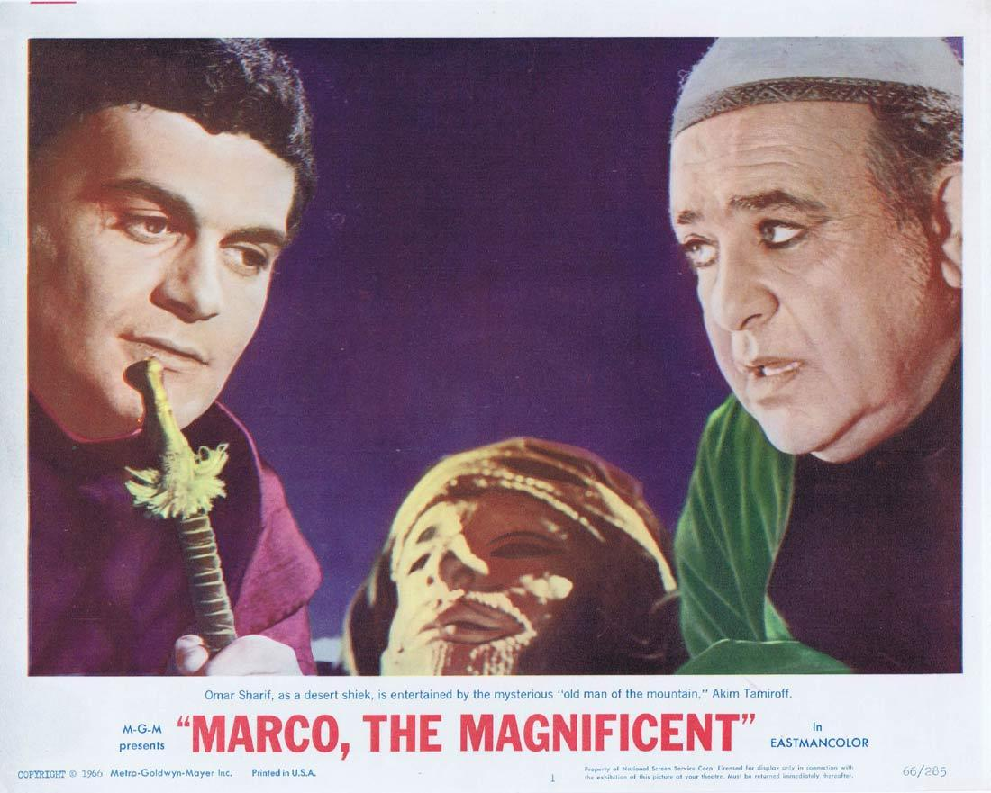 MARCO THE MAGNIFICENT Lobby Card 1 Horst Buchholz Anthony Quinn