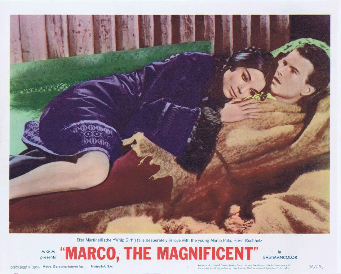 MARCO THE MAGNIFICENT Lobby Card 4 Horst Buchholz Anthony Quinn