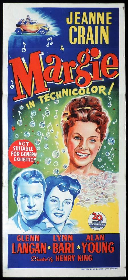 MARGIE Original Daybill Movie Poster Jeanne Crain Glenn Langan