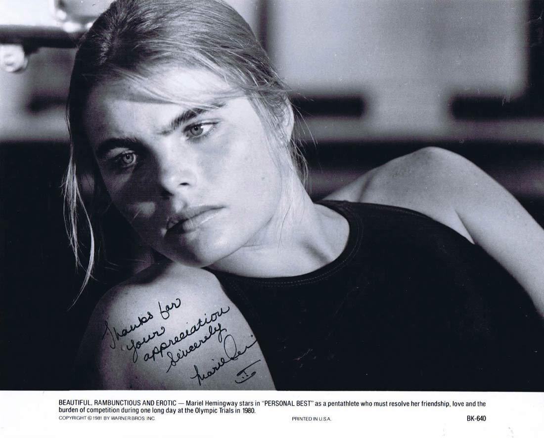 MARIEL HEMINGWAY Autograph 8 x 10 Photo Personal Best