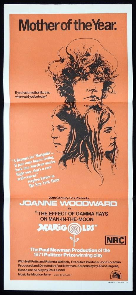 MARIGOLDS Original Daybill Movie Poster Joanne Woodward Nell Potts