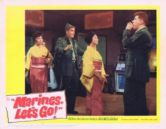 MARINES LET'S GO Lobby Card 5 1961 Tom Tryon Raoul Walsh