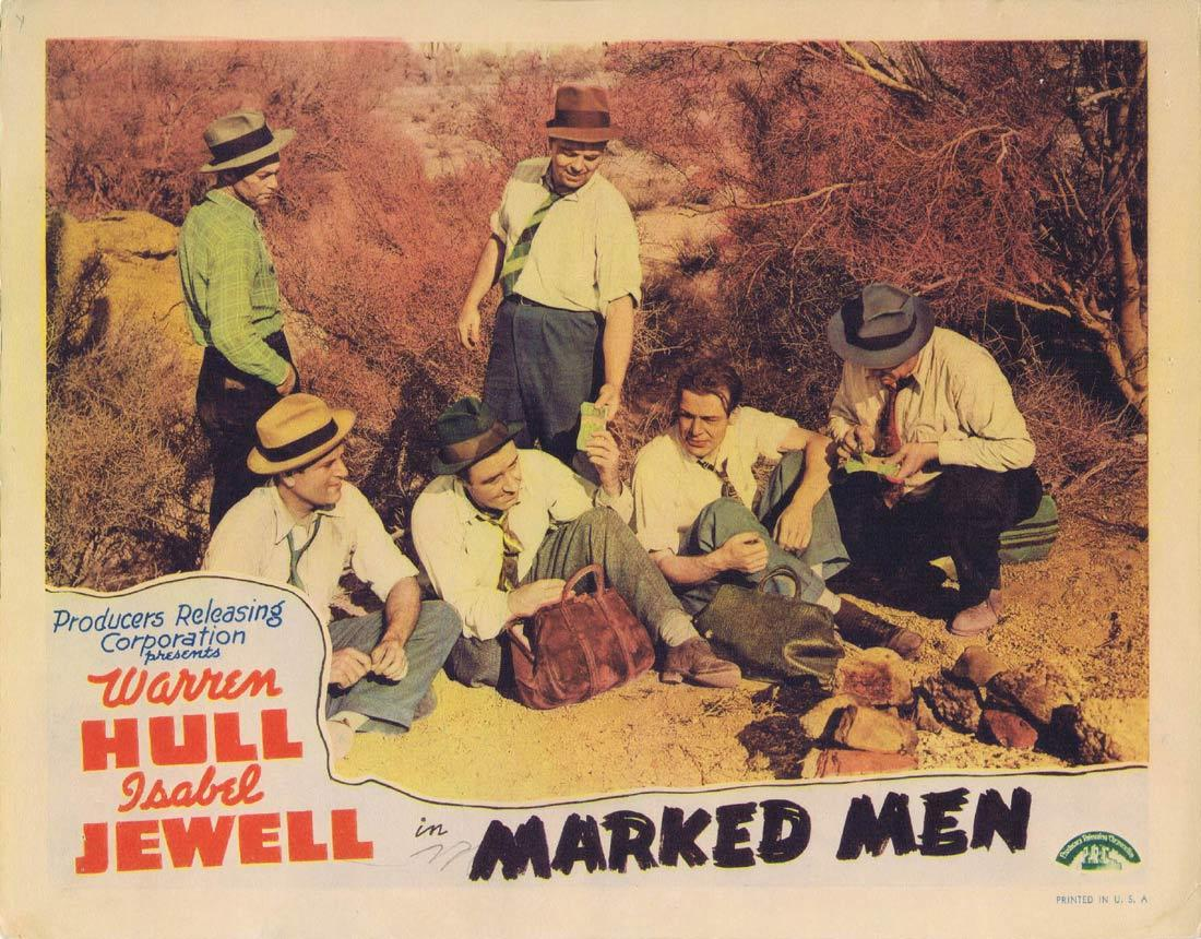 MARKED MEN Lobby Card Warren Hull Isabel Jewell John Dilson