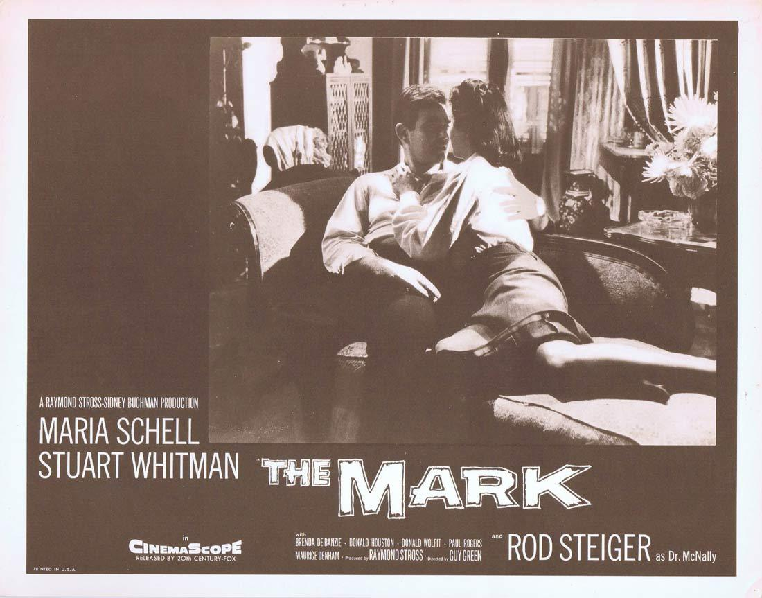 THE MARK Original Lobby Card 2  Maria Schell Stuart Whitman Rod Steiger
