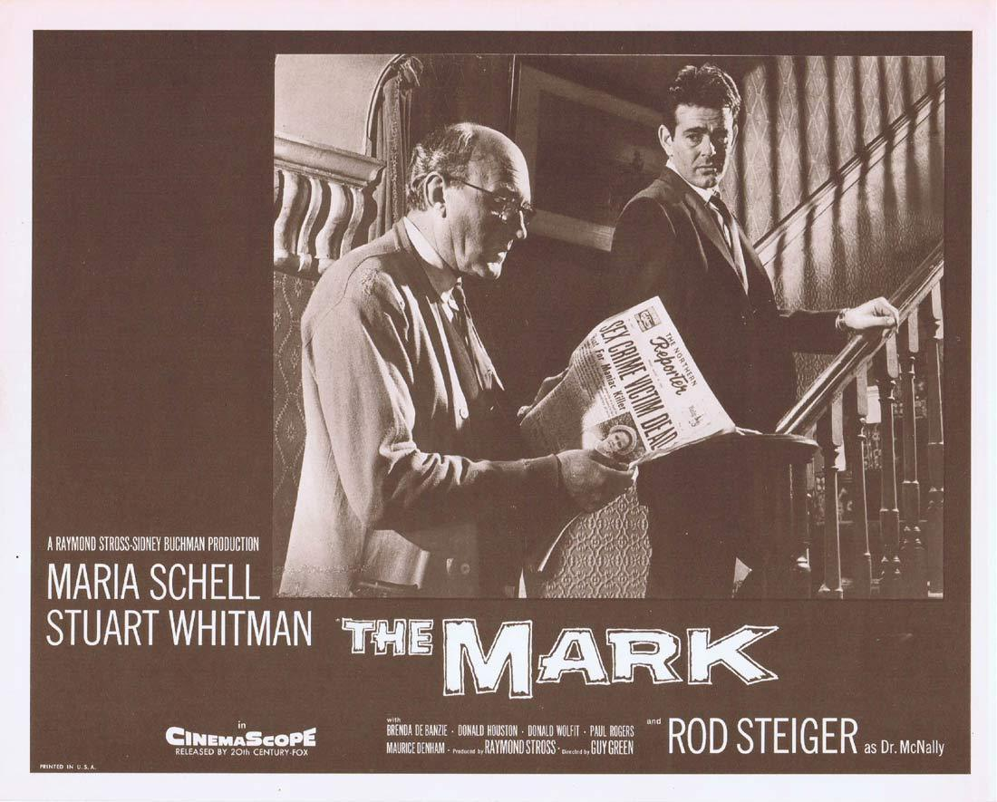 THE MARK Original Lobby Card 8 Maria Schell Stuart Whitman Rod Steiger