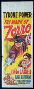 THE MARK OF ZORRO Long Daybill Movie poster Tyrone Power Linda Darnell Basil Rathbone