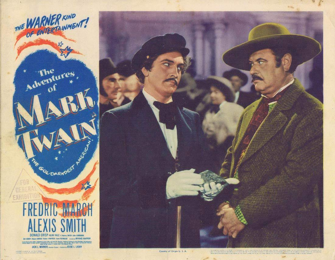 THE ADVENTURES OF MARK TWAIN Lobby Card 4 Fredric March Alexis Smith 1944
