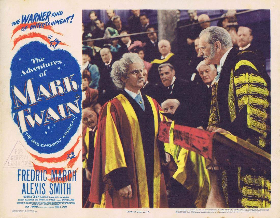 THE ADVENTURES OF MARK TWAIN Lobby Card 5 Fredric March Alexis Smith 1944