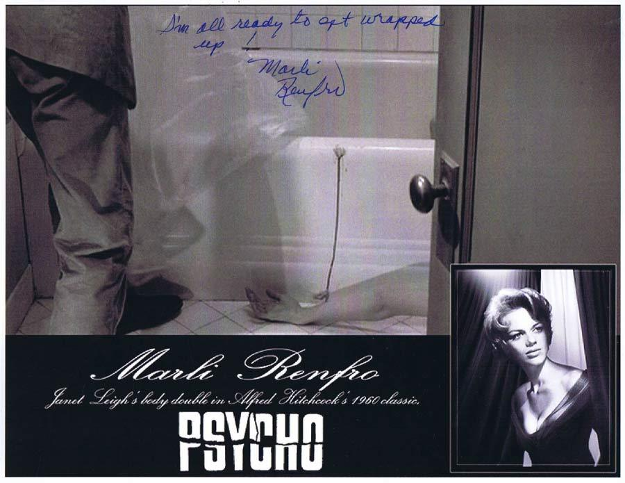 MARLI RENFRO Autograph 8 x 10 Photo from PSYCHO Hitchcock 1