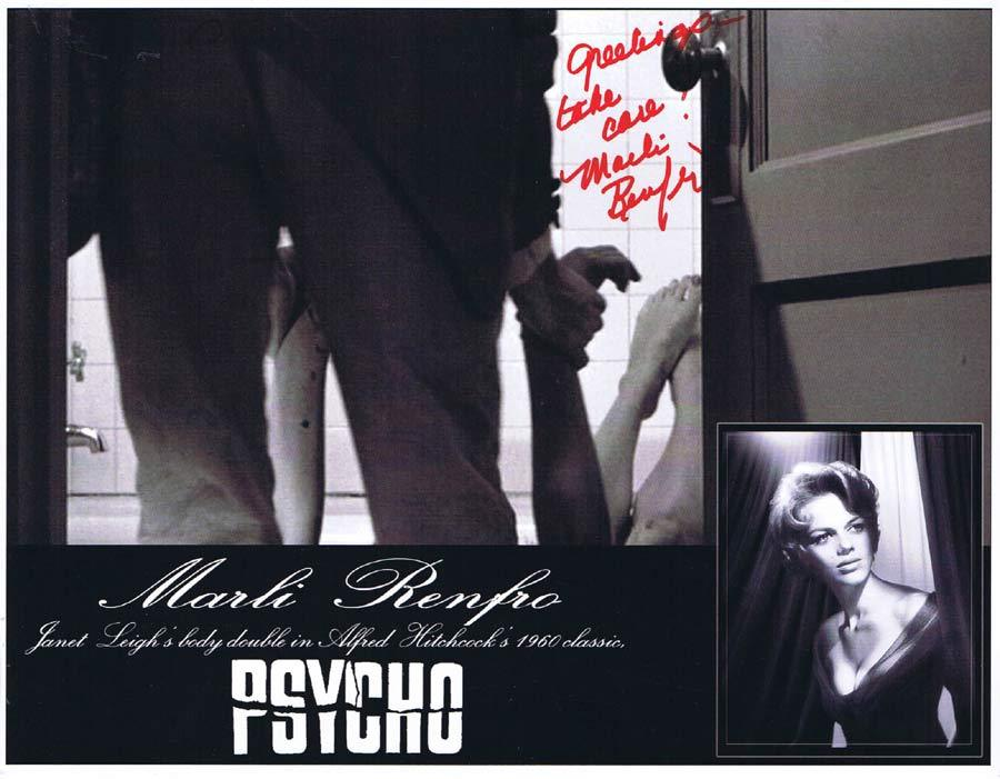 MARLI RENFRO Autograph 8 x 10 Photo from PSYCHO Hitchcock 2