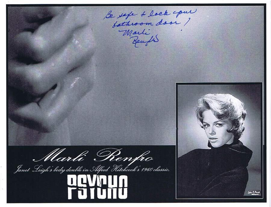MARLI RENFRO Autograph 8 x 10 Photo from PSYCHO Hitchcock 4