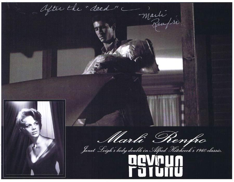 MARLI RENFRO Autograph 8 x 10 Photo from PSYCHO Hitchcock 5