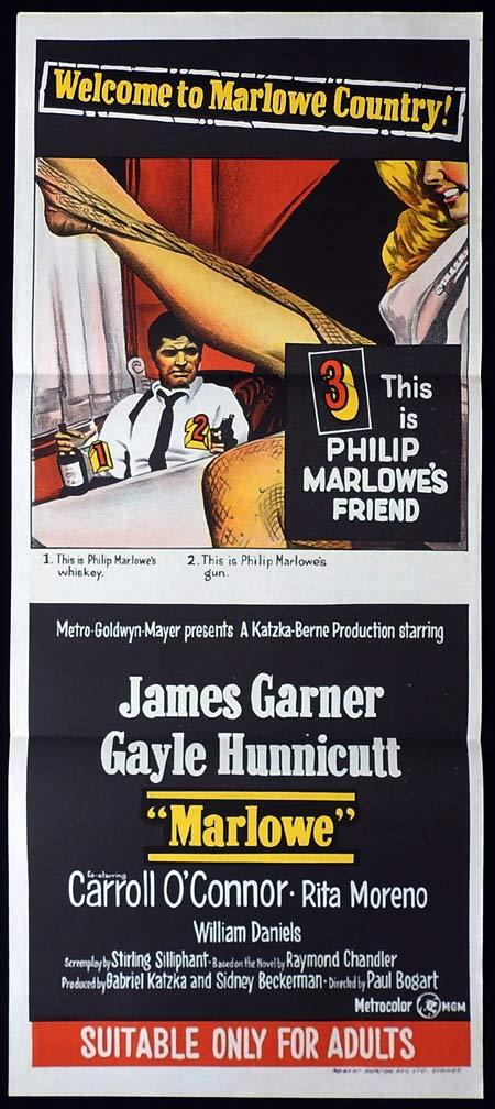 MARLOWE Original Daybill Movie Poster James Garner Gayle Hunnicutt