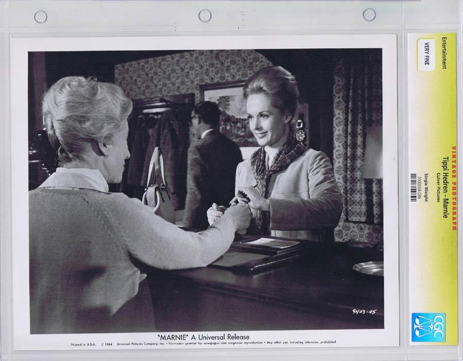 MARNIE Vintage CGC graded Movie Still Alfred Hitchcock Sean Connery Tippi Hedren 2