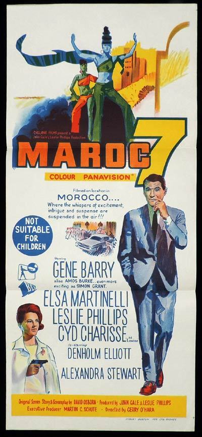 MAROC 7 Daybill Movie poster Gene Barry