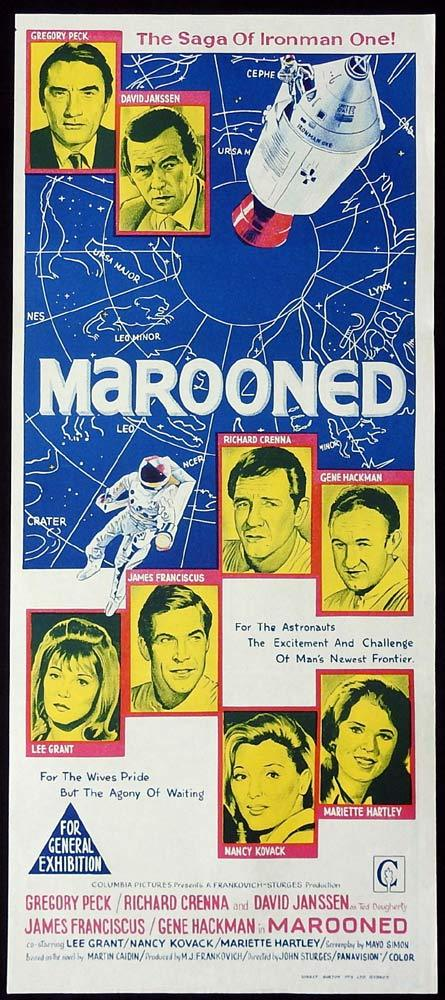MAROONED Original Daybill Movie Poster Gregory Peck Richard Crenna