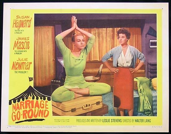 MARRIAGE GO ROUND 1960 Julie Newmar Susan Hayward Lobby Card 3