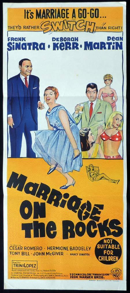 MARRIAGE ON THE ROCKS Original Daybill Movie Poster Frank Sinatra Deborah Kerr