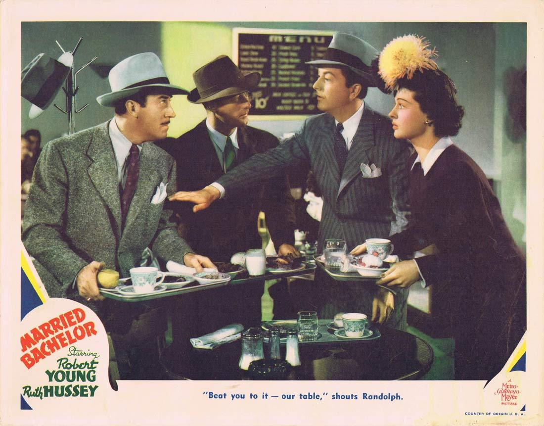 MARRIED BACHELOR Original Lobby Card 3 Robert Young Ruth Hussey Felix Bressart 1941