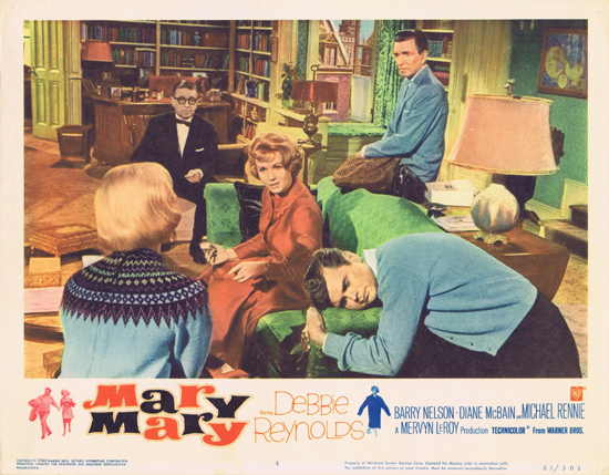 MARY MARY Lobby Card 4 Debbie Reynolds Michael Rennie Barry Nelson