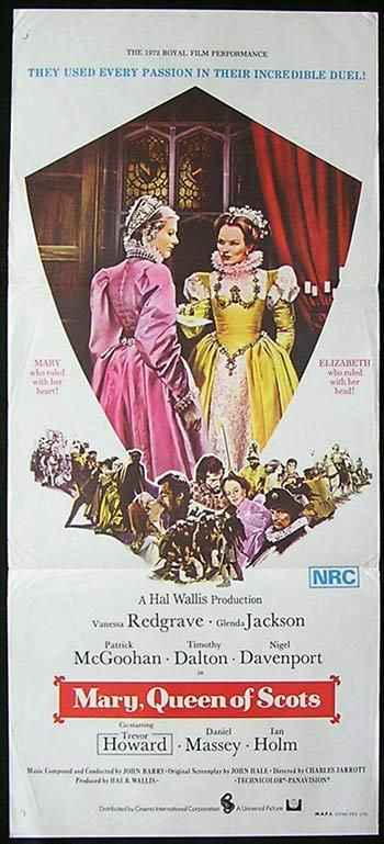 MARY QUEEN OF SCOTS VINTAGE Original Daybill Movie Poster Glenda Jackson