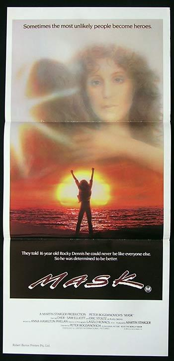 MASK Original Daybill Movie Poster Cher Sam Elliott Eric Stoltz