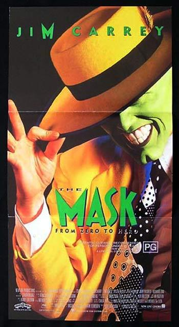 THE MASK Daybill Movie poster Jim Carrey
