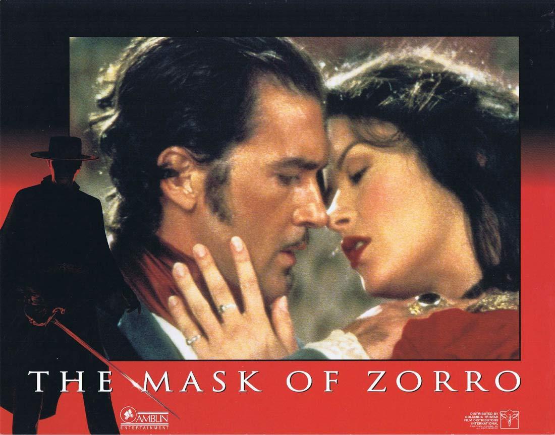 THE MASK OF ZORRO Original Lobby Card 2 Antonio Banderas Anthony Hopkins Catherine Zeta-Jones