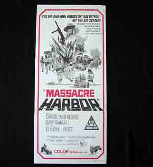 MASSACRE HARBOR Daybill Movie Poster Christopher George Longet