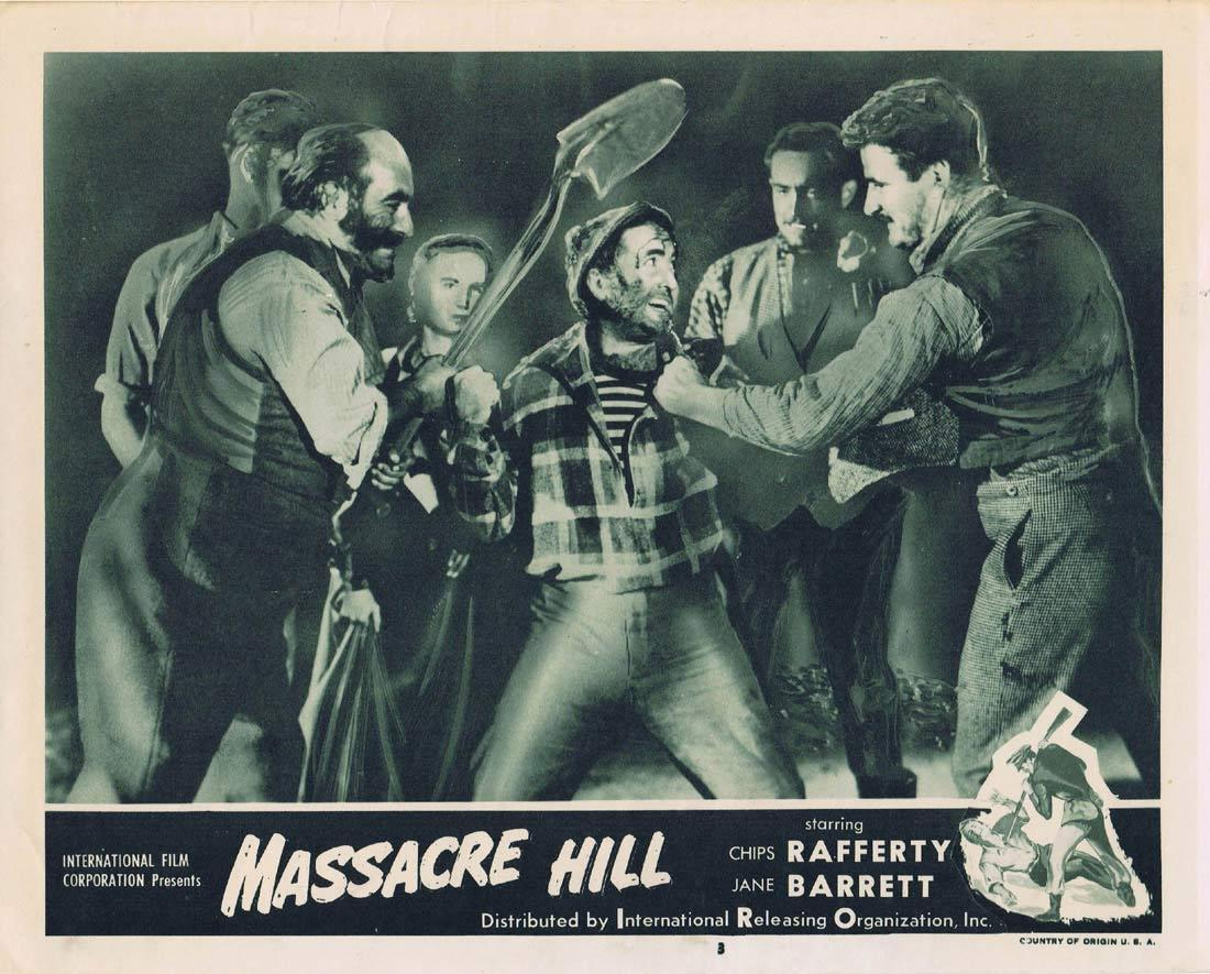 EUREKA STOCKADE aka MASSACRE HILL Lobby Card 3 1954 Chips Rafferty