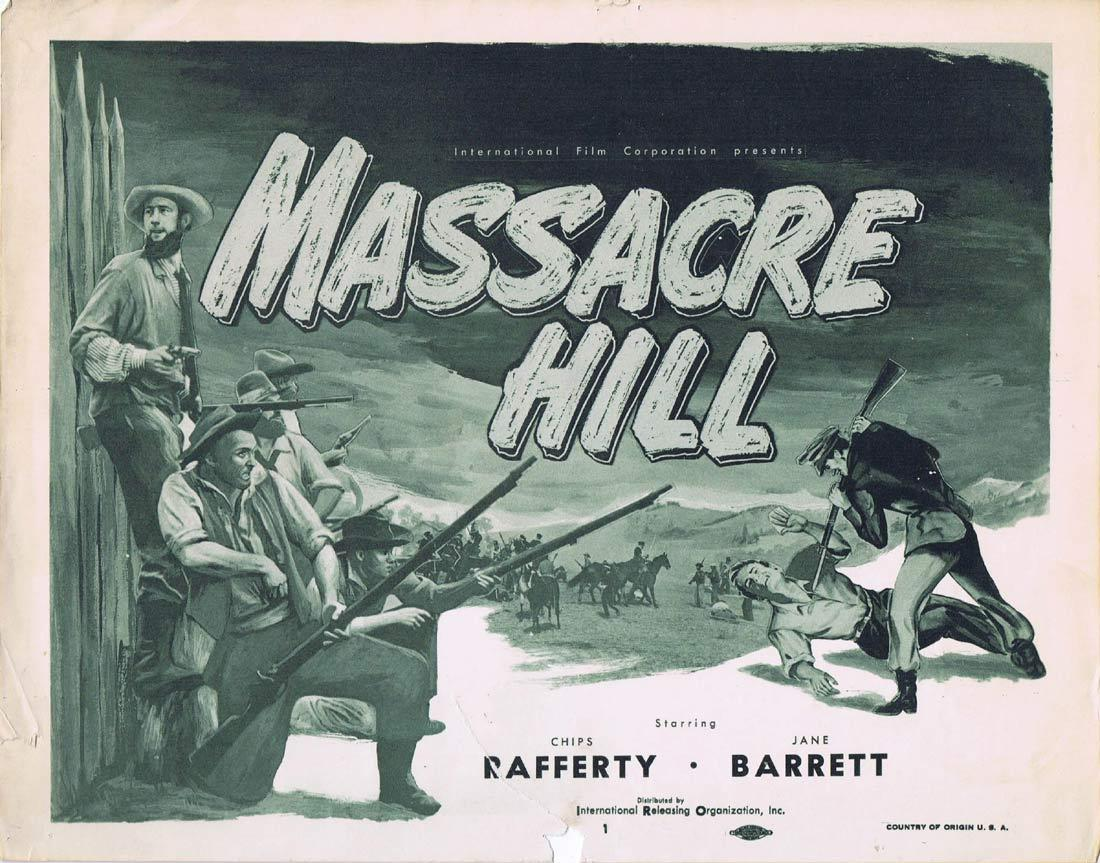 EUREKA STOCKADE aka MASSACRE HILL Title Lobby Card 1954 Chips Rafferty