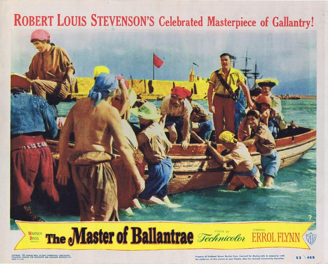 THE MASTER OF BALLANTRAE Lobby Card 7 Errol Flynn Roger Livesey