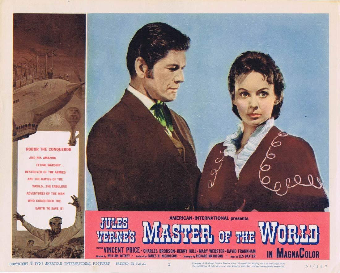 JULES VERNE'S MASTER OF THE WORLD Lobby Card 2 Vincent Price Charles Bronson