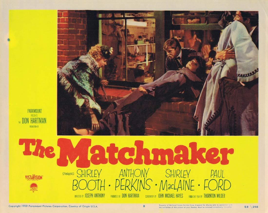 THE MATCHMAKER Vintage Movie Lobby Card Shirley Booth Anthony Perkins Shirley MacLaine