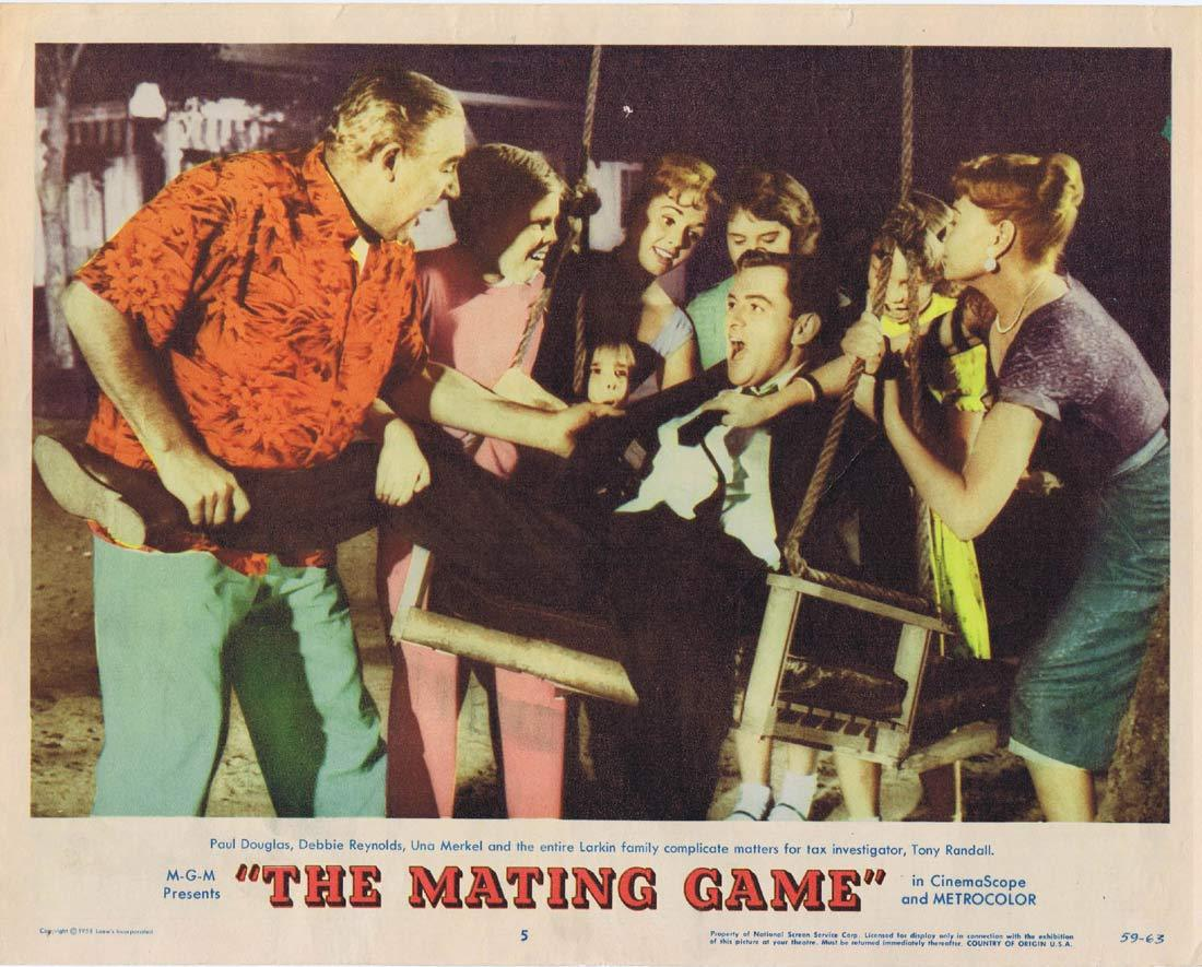 THE MATING GAME Original Lobby Card 5 Debbie Reynolds Tony Randall