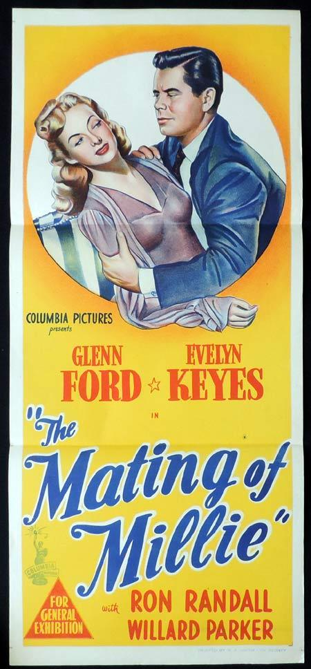 THE MATING OF MILLIE Original Daybill Movie Poster Glenn Ford Evelyn Keyes