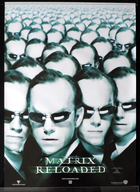 MATRIX RELOADED Teaser Australian One sheet Movie Poster Hugo Weaving as Agent Smith