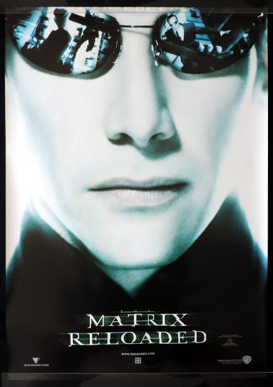 MATRIX RELOADED Advance Australian One sheet Movie Poster Keanu Reeves as Neo