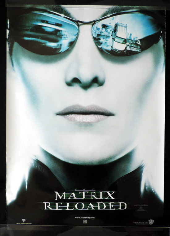 MATRIX RELOADED Advance Australian One sheet Movie Poster Carrie Anne Moss as Trintity