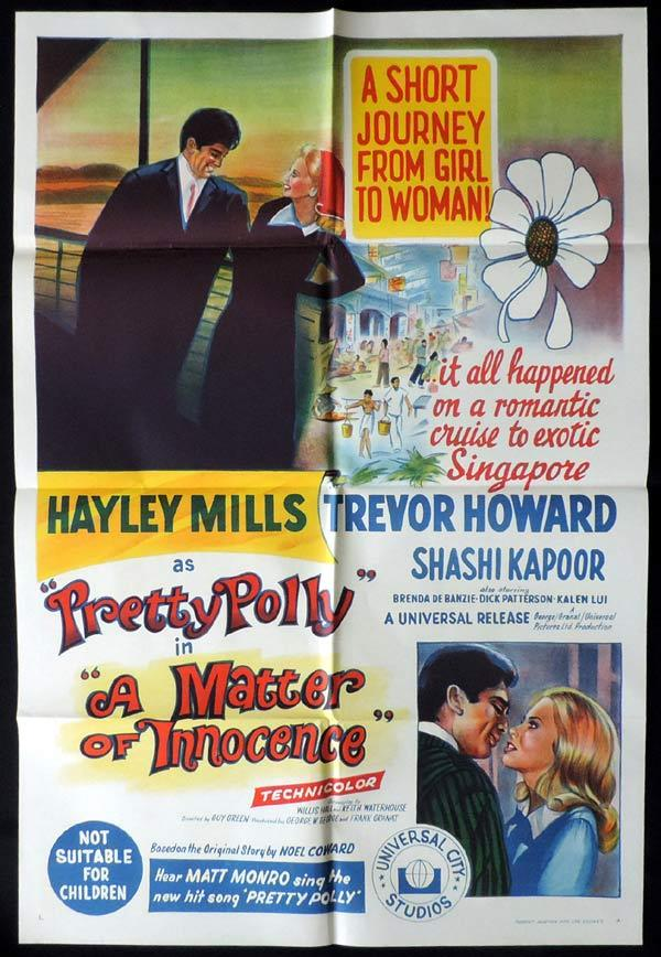 Pretty Polly, Guy Green, Trevor Howard, Shashi Kapoor, Hayley Mills, Brenda De Banzie