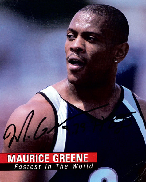 "MAURICE GREEN Autographed 4"" x 5"" Photo Fastest in the World"