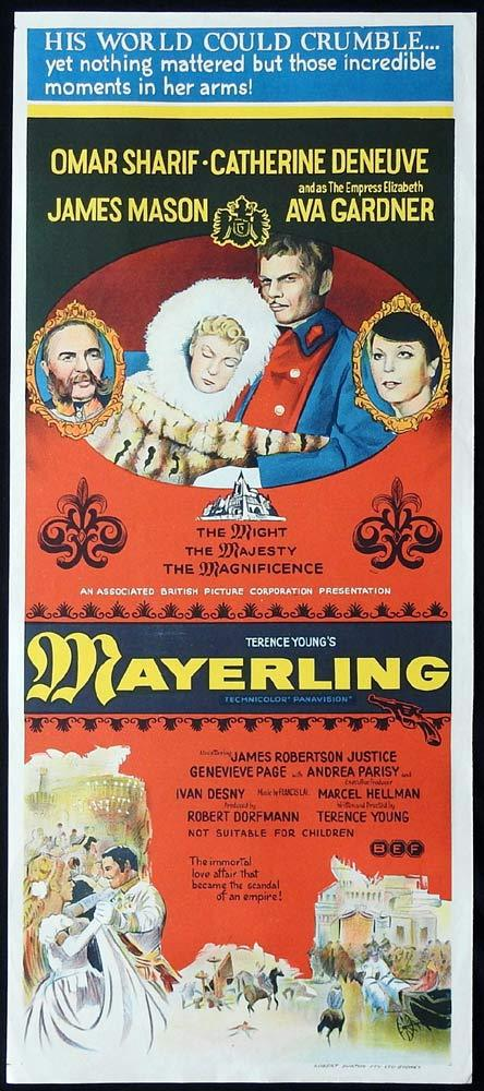 MAYERLING Original Daybill Movie Poster Omar Sharif Catherine Deneuve